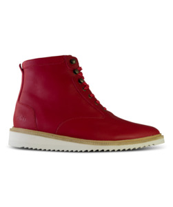 Desert High / Rotes Geöltes Glattleder / Ripplesohle - ekn footwear