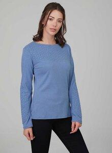 Basic Langarm Tshirt in melierter Optik - ORGANICATION