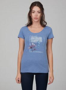 T-shirt aus Bio-Baumwolle mit Blumenprint - ORGANICATION