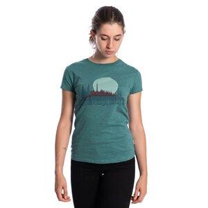 Fichtelfornia T-Shirt Damen Dunkelgrün - bleed