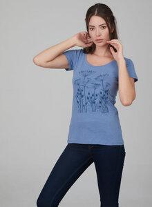 Damenshirt mit romantischen Blumenprint - ORGANICATION