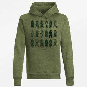Hooded Sweater Star Nature Bear Forest - GreenBomb