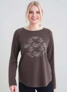 Tencel Langarmshirt vorne mit Blumenprint - ORGANICATION