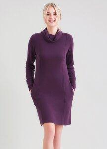 Rollkragen Kleid mit seitlichen Eingrifftaschen - ORGANICATION