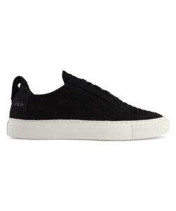 Argan Low / Schwarz Vegan / Weiße Sohle - ekn footwear