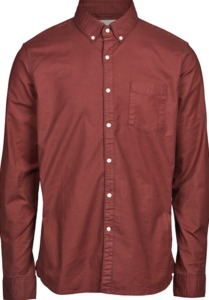 Hemd - Stretched oxford shirt - Decadent Chokolade - KnowledgeCotton Apparel