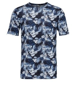 Linen T-Shirt with all over print - KnowledgeCotton Apparel