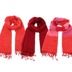 Pina - breiter Schal /Schaltuch aus Nepal - Rot-, Orange-, Rosa-Töne - MoreThanHip