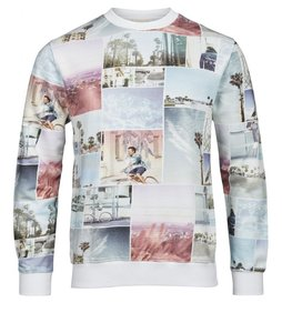 Sweat shirt with all over photo print - KnowledgeCotton Apparel