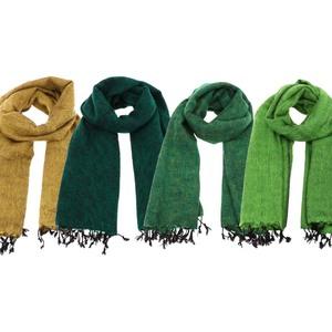 6aa711effc8837 Pina - breiter Schal /Schaltuch aus Nepal - Grün/Gelbtöne - MoreThanHip
