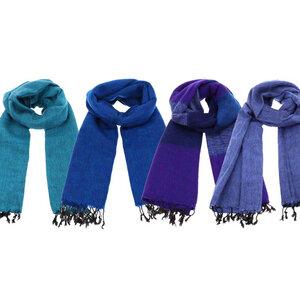 Pina - breiter Schal /Schaltuch aus Nepal - Blau/Violetttöne - MoreThanHip