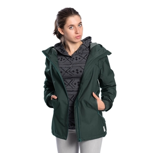 SYMPATEX® Thermal Jacke Damen Dunkelgrün - bleed