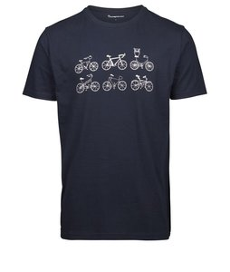T-shirt with printed bikes on a line - GOTS - KnowledgeCotton Apparel