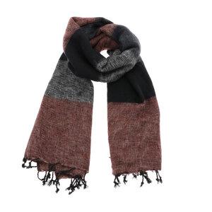 Pina - breiter Schal /Schaltuch aus Nepal - Schwarz/Grautöne  - MoreThanHip