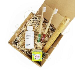 Winter X-Mas Active Box u.a. mit 2 nachhaltigen Zahnbürsten aus Bambus - HYDROPHIL