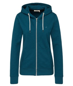 Sweatjacke Basic deep teal - recolution