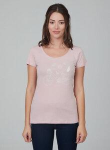 Damenshirt vorne mit Alloverdruck aus 100% Bio Baumwolle - ORGANICATION