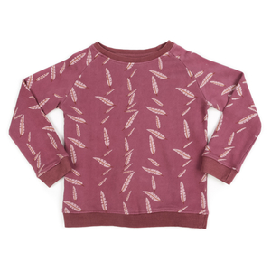 Pullover Sweater Falling Feather pflaume - Liv+Lou