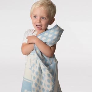 Babydecke Elias Alpaca soft blue  - SONNENGRUSS