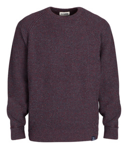 Strickpullover - Bordeaux/Blue - Blue LOOP Originals