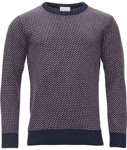 Diagonal 3 col. knit  - KnowledgeCotton Apparel