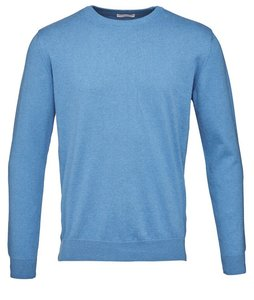 Basic O-Neck Cotton/Cashmere - GOTS deep water - KnowledgeCotton Apparel
