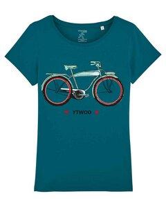 Damen T-Shirt mit Vintage Bike als Motiv. Frauen Shirt mit Fahrrad.  - YTWOO