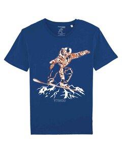 Bio Tshirt mit Snowbord in Indy Grab Style als Motiv. Bio Shirt - YTWOO