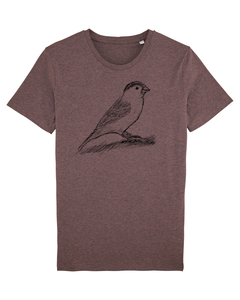 "Bio Faires Herren T-Shirt ""Spatz"" _dark cranberry - ilovemixtapes"