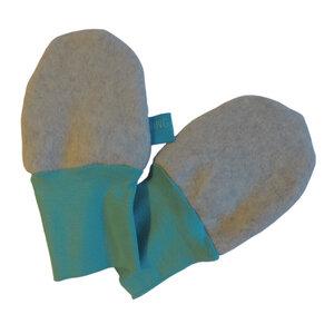 Baby Fleece-Handschuhe hellgrau/mint - bingabonga®