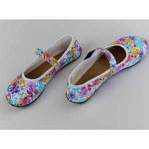 Ananda: Barfußschuh Ballerina Blumen - Ahinsa shoes®