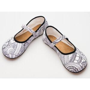 Ananda: Barfußschuh Ballerina Zentangle - Ahinsa shoes®
