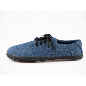 Sundara: Barfuss Halbschuhe recycelt blau - Ahinsa shoes®