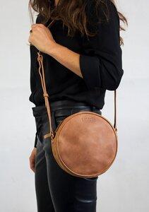 runde Umhängetasche - Luna Bag - Eco Camel - O MY BAG