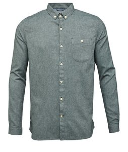 Solid Col. Flanel Shirt Green Gables - KnowledgeCotton Apparel