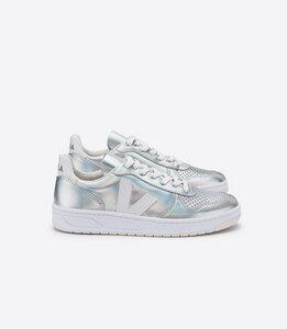 Sneaker Damen - V-10 Leather - Unicorn White - Veja