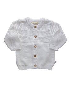 Baby Strickjacke weiss Bio Baumwolle - EBi & EBi