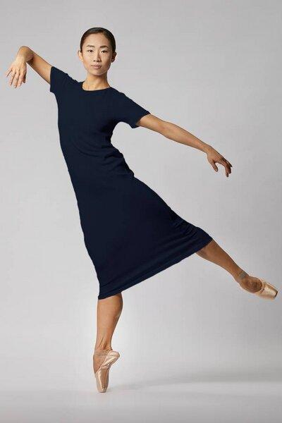 05769c942ee1b8 LUXAA - Basic Jersey Kleid aus Bio-Baumwolle - Navy