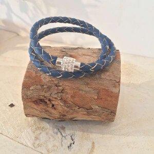 Korkarmband geflochten zweifach gewickelt - Living in Kork