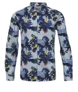 Palm Sea Printed Shirt Skyway - KnowledgeCotton Apparel