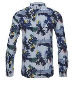 Palm Sea Printed Shirt Skyway - KnowledgeCotton Apparel