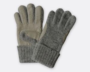 100% Schafwoll-Fingerhandschuhe Villgrater Natur, mit/ohne Lederbesatz - Villgrater Natur