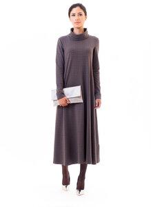 anzüglich-Kleid grau gemustert aus peruanischer Bio-Baumwolle - anzüglich organic & fair