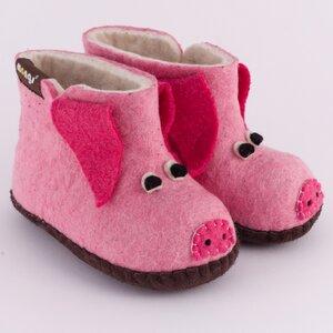 Hausschuhe - Baby Piggy Rosa - mongs®