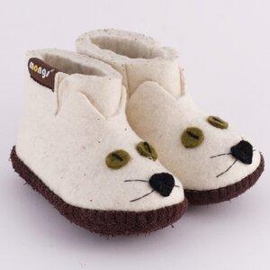 Hausschuhe - Baby Kitty Weiss - mongs®