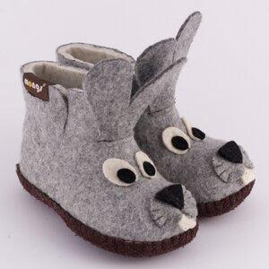 Hausschuhe - Baby Bunny Grau - mongs®