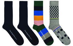 Socks 4 Pack Total Eclipse - KnowledgeCotton Apparel