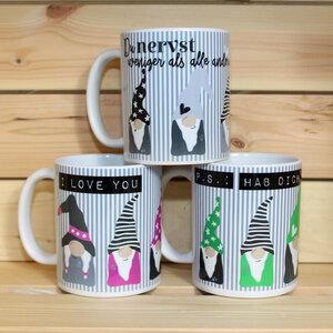 Hochwertiger Kaffeebecher / Tasse  'Gnom' - Sternchenwolke