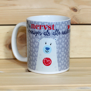 Hochwertiger Kaffeebecher / Tasse 'Du nervst weniger als alle anderen' - Sternchenwolke