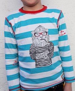 Kinder-Shirt/Longsleeve Captain Löwe mit roter Brille - Omilich